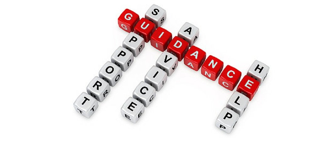 Image shows letter blocks spelling the word Guidance to reflect Why Every Leader Should Get a Mentor