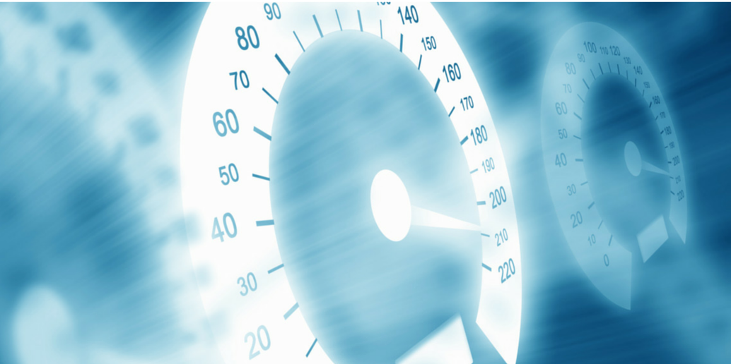 Image of a speedometer to show accelerate