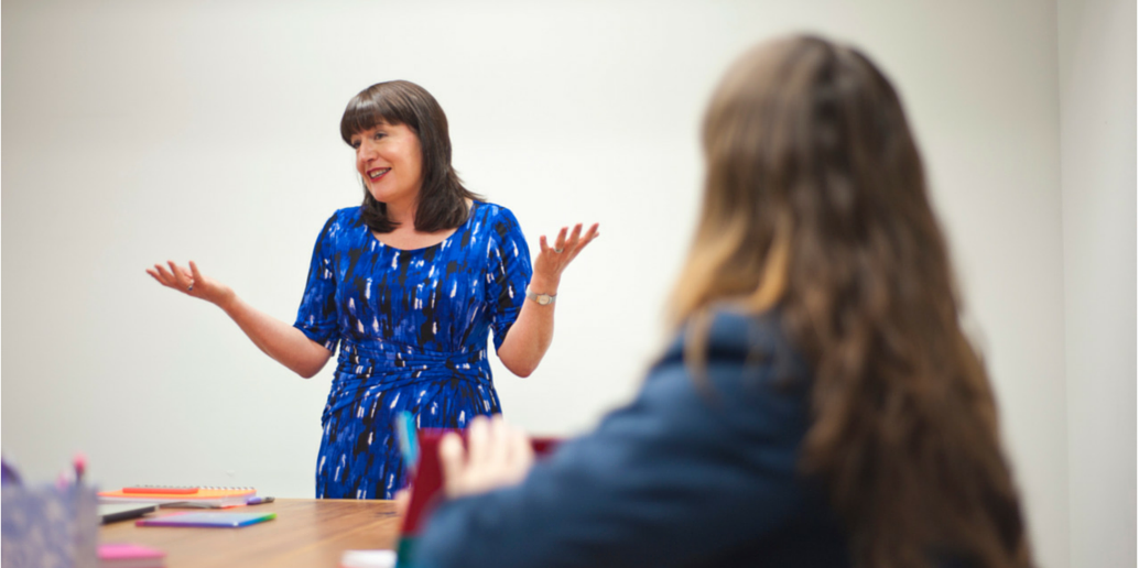 Antoinette facilitating mentor training