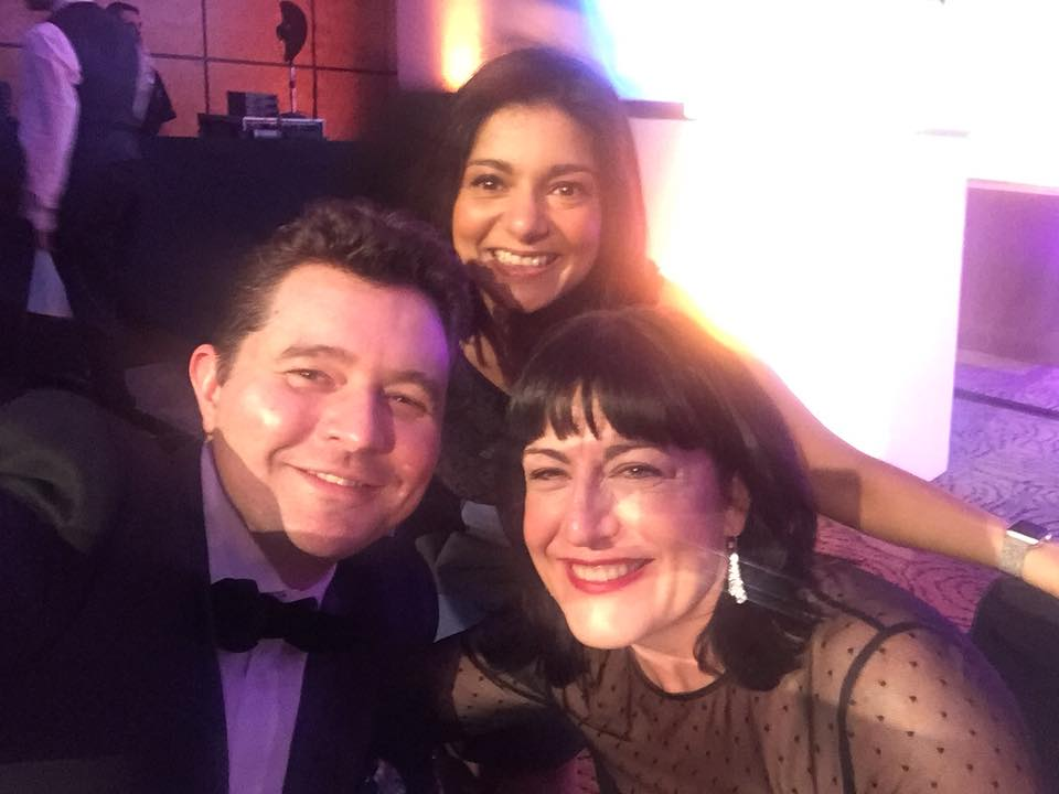 Antoinette Oglethorpe with Daniel Priestley and Sapna Pieroux