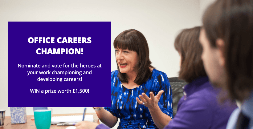 Office Careers Champion win £1500 workshop