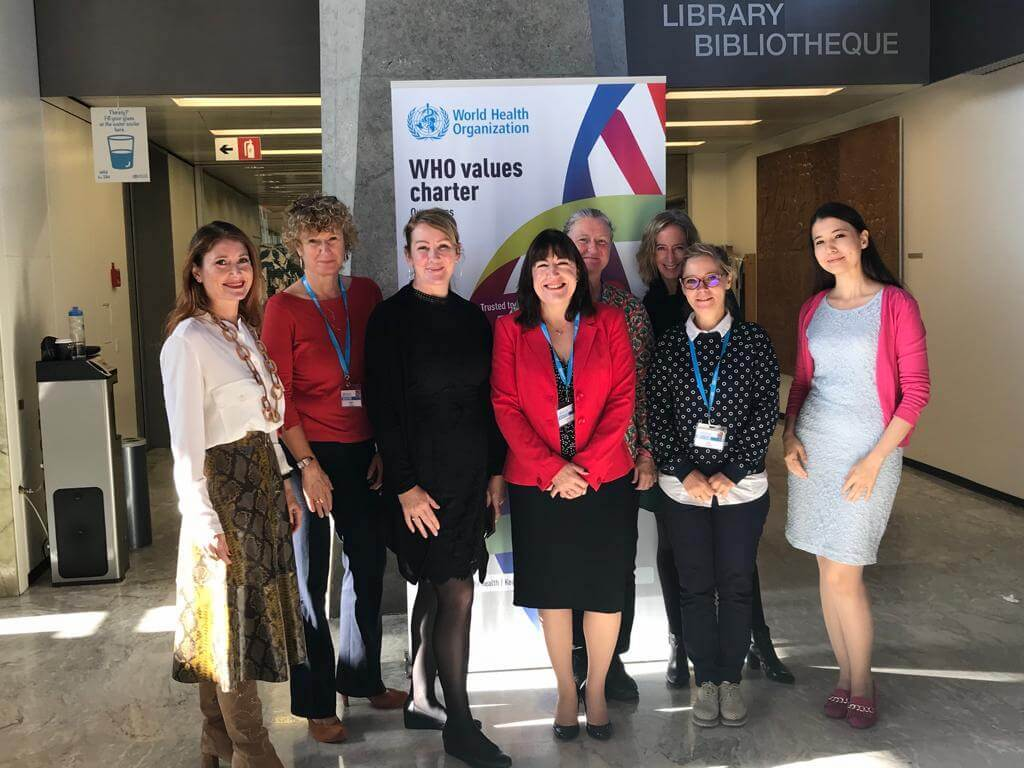 Sara Canna and her team from The World Health Organisation Geneva