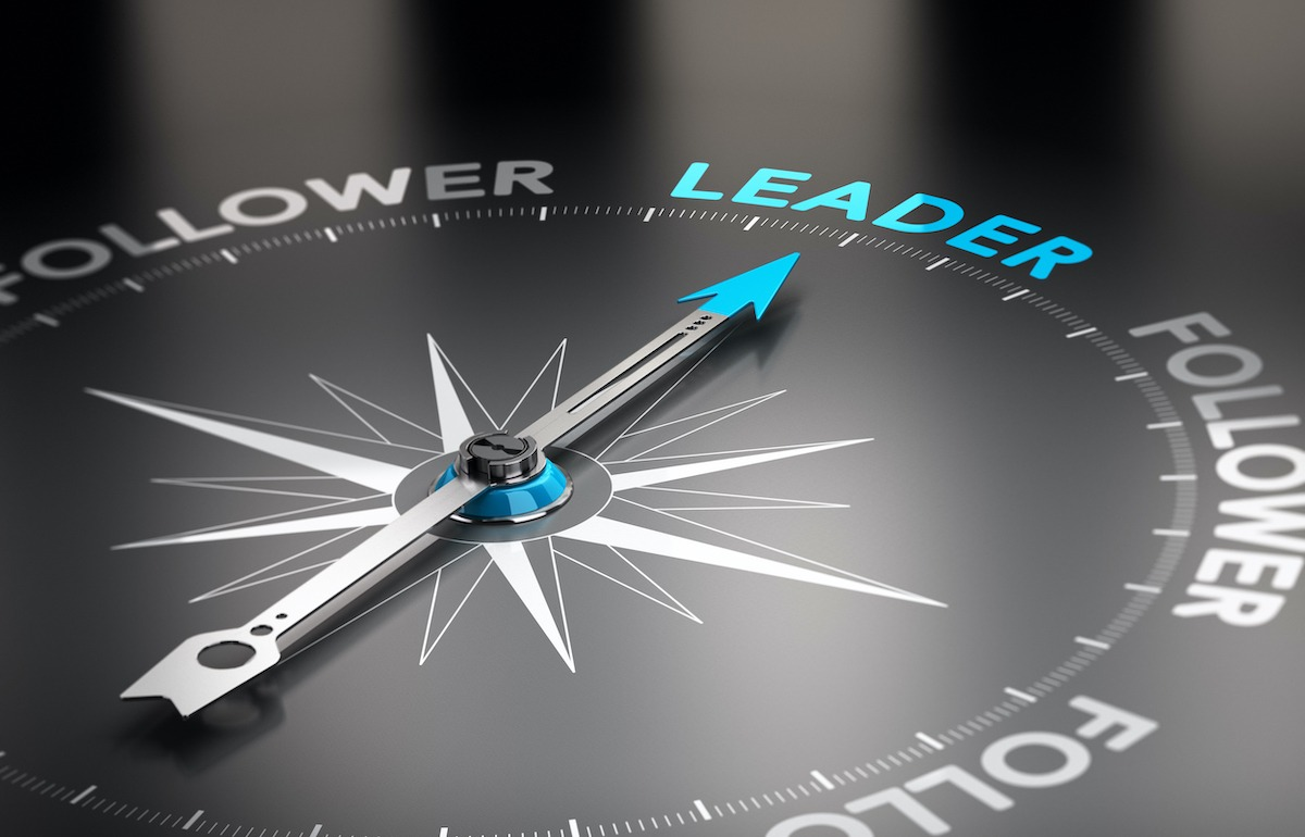 Leadership Development quotes compass pointing north to Leader