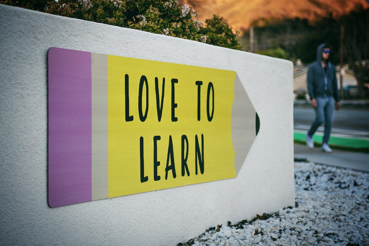 7 Career Development Strategies for Future-Proofing Your Career - sign saying love to learn