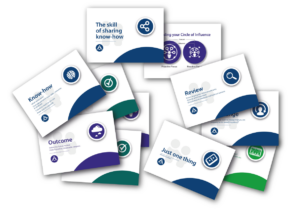 Mentoring toolkit cards laid out