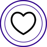 Heart icon for values